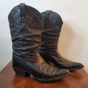Ariat black boots size 8 slouch boots